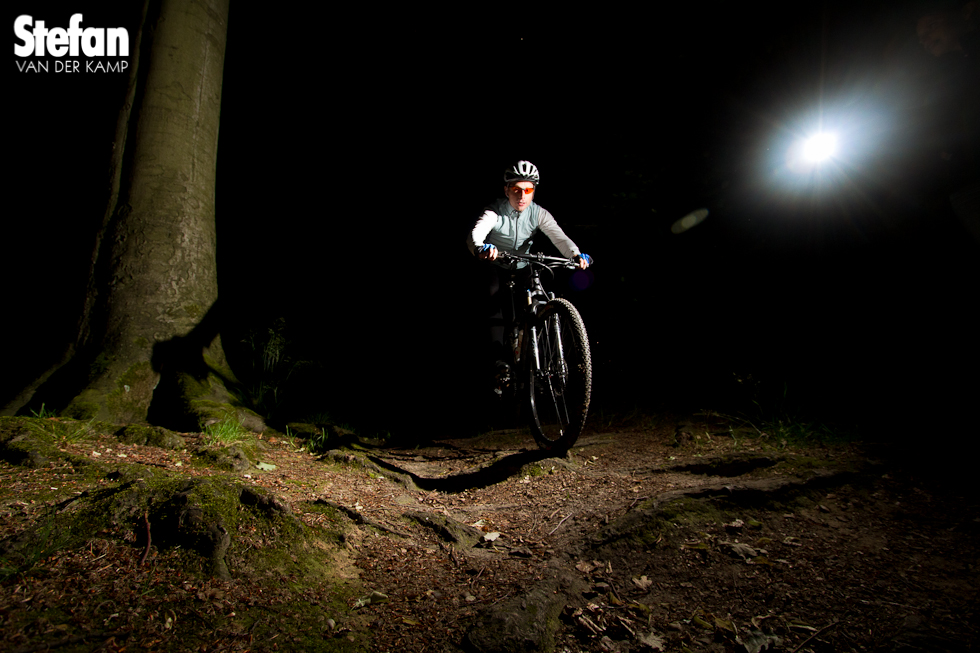 Een mountainbike in het theater