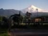 De vulkaan Villarica is met begleiding van een gids te beklimmen