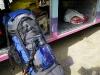 De backpacker in Patagonië moet niet raar opkijken als de tas naast een net geslacht schaap komt te liggen