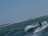 Designer Peter Stiewe in the waves
