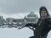 Het was mijn eerste keer snowkiten, en meteen STOKED!