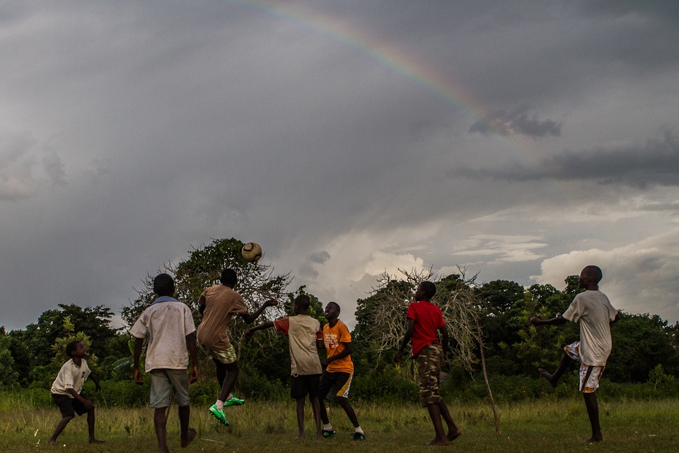 Like the rainbow that showed up when we played soccer on the fields there is hope in Chawolo.